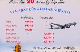 GIẢM ĐẾN 20%  CỰC HẤP DẪN - VI VU BAY CÙNG QATAR AIRWAYS