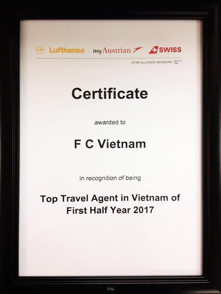 🌟 🌟 🌟Congratulation to F.C Vietnam from #Lufthansa! 🌺 🌺 🌺 🔔 🔔 🔔 Những cố gắng phấn đầu trong nửa đầu năm 2017 của F.C Việt Nam đã có được sự ghi nhận từ #Lufthansa ^^ ! F.C Việt Nam xin gửi lời cám ơn chân thành nhất đến mọi Quý khách hàng đã ủng hộ và đồng hành cùng chúng tôi trong suốt thời gian qua! 🌴 🌴 🌴 👆 👆 👆F.C Việt Nam mong muốn tiếp tục nhận được sự ủng hộ của Quý khách hàng trong thời gian tới! Một lần nữa xin chân thành cám ơn! 👆 👆